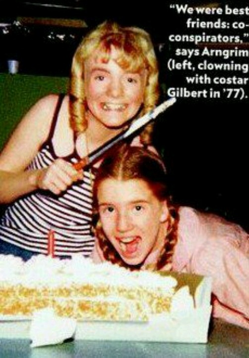 """We were best friends, co-conspirators,"" says Alison Arngrim (with Melissa Gilbert on the set)"