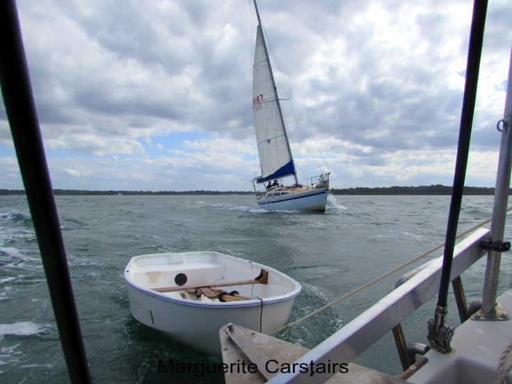 https://flic.kr/s/aHsk2JwNGV | Sailing Russell Island | Sailing Moreton Bay from Russell Island to Stradbroke Island and back