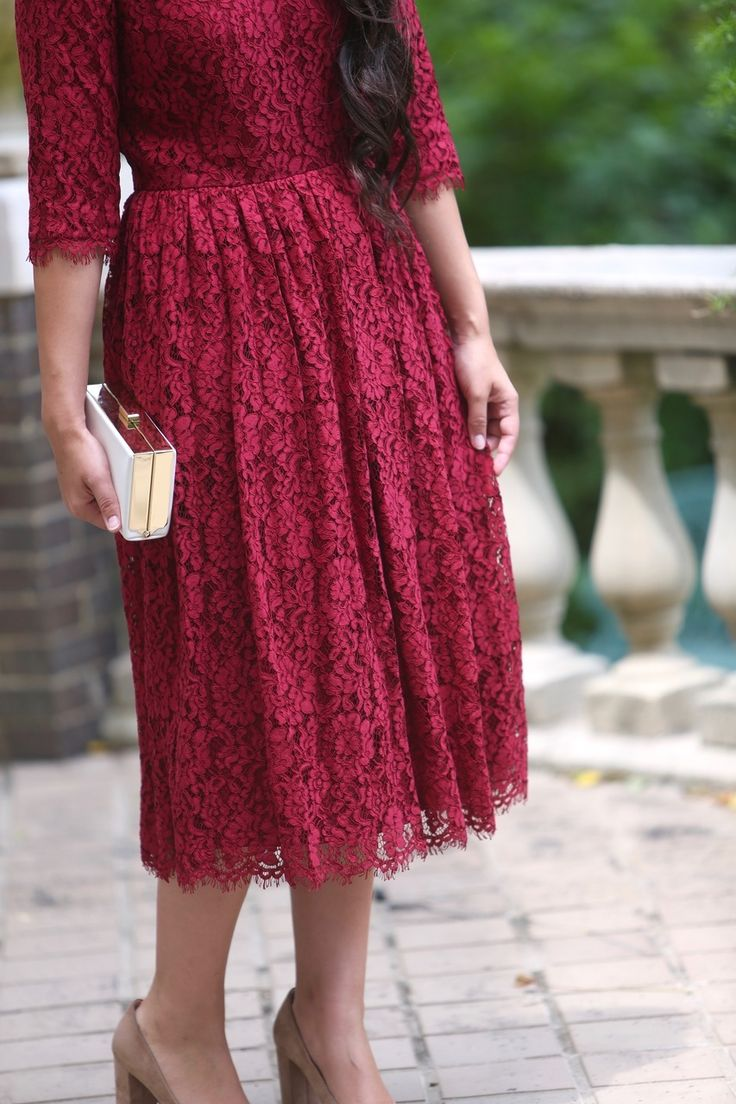 modest fashion, modest bridesmaid dresses, modest clothing, modest dresses, modest skirt, modest top, modest apparel, hijab, long sleeves, 3/4 sleeves, modest swimwear, ruffles and lace, long dress, modest swimsuit, bow dress, lace dress, elegant, victorian, vintage, bridesmaid, wedding, flower girl, plus size, burgundy Graceful in Lace dress