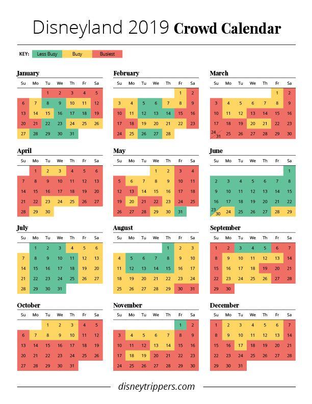 Pictures of 2021 Disneyland Crowd Calendar