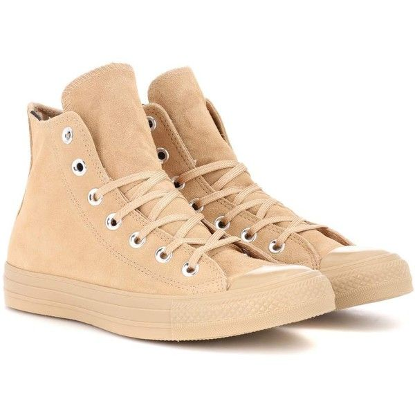 Converse Chuck Taylor All Star Sneakers ($81) ❤ liked on Polyvore featuring shoes, sneakers, beige, converse footwear, converse sneakers, star sneakers, converse trainers and beige sneakers