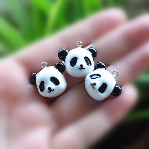 Encantos de resina panda collar colgante para DIY Collar/de la Pulsera