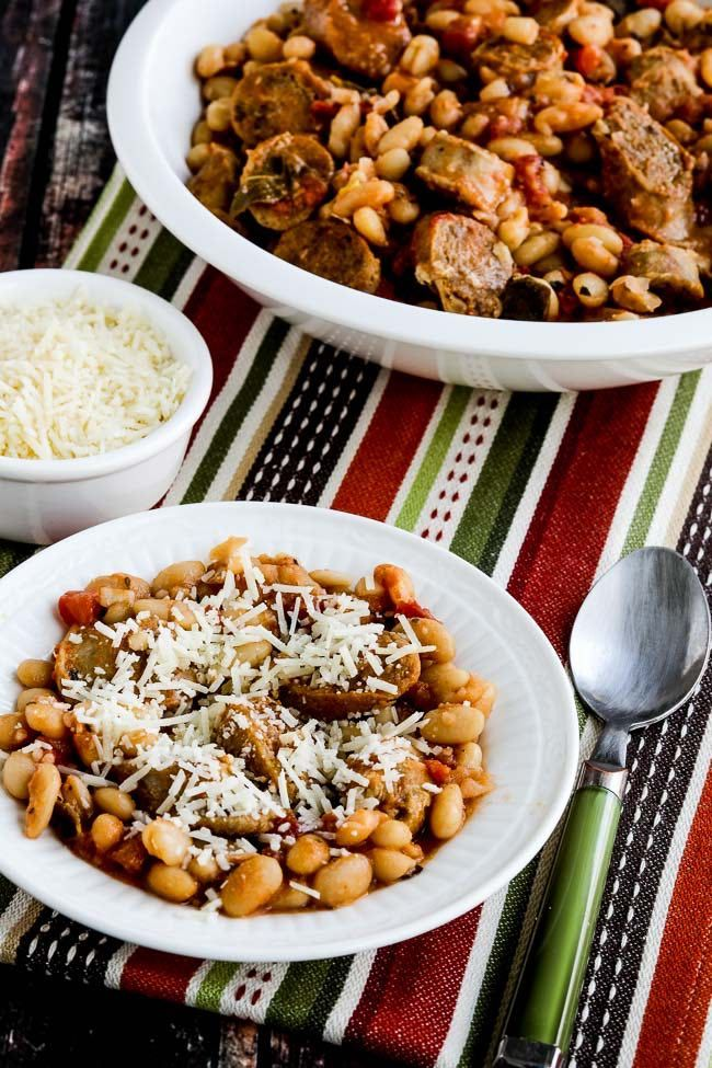 Italian Sausage and White Beans with Sage gets extra flavorful when the cooked beans, sausage, and sage are simmered in the Instant Pot or slow cooker with tomatoes and ground fennel. And this delicious recipe is low-glycemic, gluten-free, and South Beach Diet friendly. If you're watching carbs, double the sausage and use less beans for …