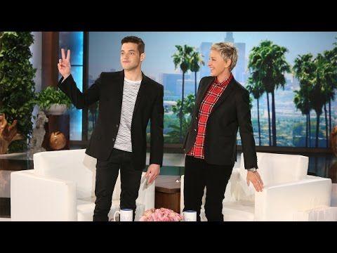 Rami Malek Makes His 'Ellen' Debut - YouTube