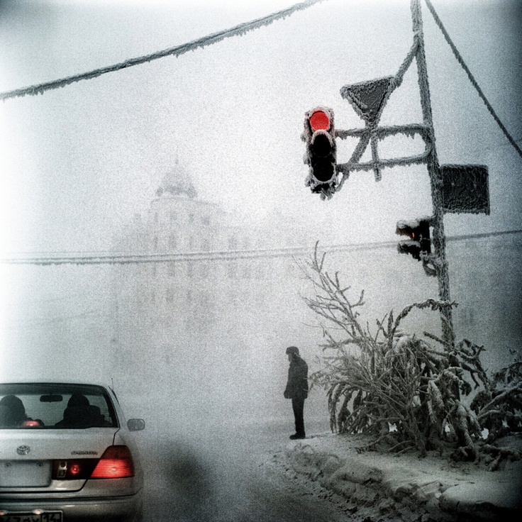 Steeve Iuncker—Agence VU.december 2013. A scene in Yakutsk, Siberia, the coldest city in the world