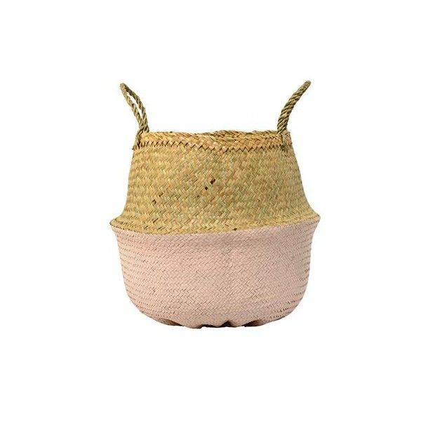 Room and Bloom - Folding Seagrass Basket - Rose, $59.00 (http://www.roomandbloom.com.au/gift-ideas/folding-seagrass-basket-rose/)