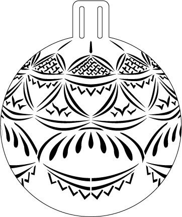 Blue Delft Lace Ornament Stencil - 5""