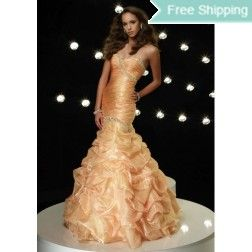 Cheap Glamour Sheath / Column Strapless Knee-length Ruffles Prom Dress Under Price 110 At Gifilight.com.