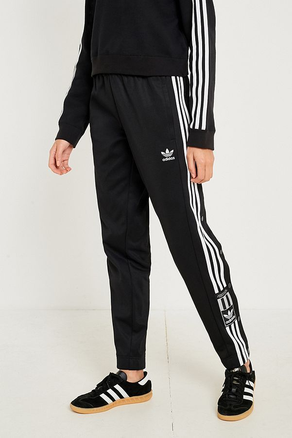 adidas Originals Adibreak 3-Stripe Black Taping Popper Track Pants ... 6f6cbb5eb21