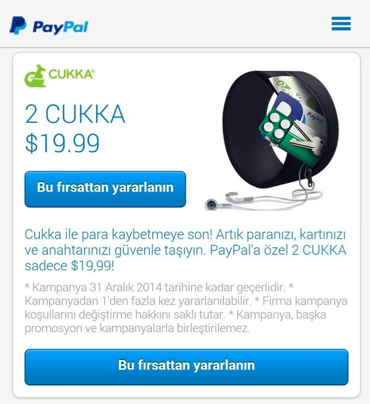 PayPal ile paralar CUKKA! Bu fırsattan yararlanın paypal.com.tr/alisveris