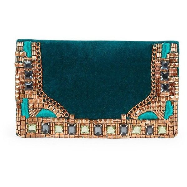 Micky London Embellished Velvet Clutch (6.455 RUB) ❤ liked on Polyvore featuring bags, handbags, clutches, deep teal, teal purse, velvet purse, teal handbag, embellished purses and velvet handbag