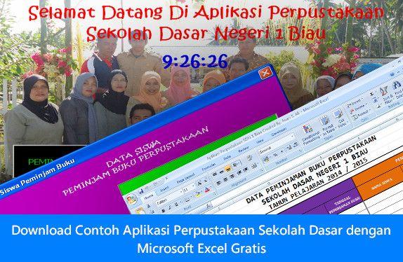 [.xls otomatis] Download Contoh Aplikasi Perpustakaan Sekolah Dasar dengan Microsoft Excel Gratis