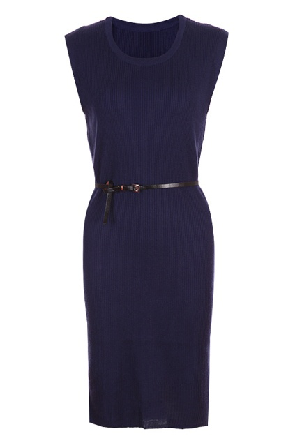 Belted Navy Blue Longline Dress | ROMWE wishlist