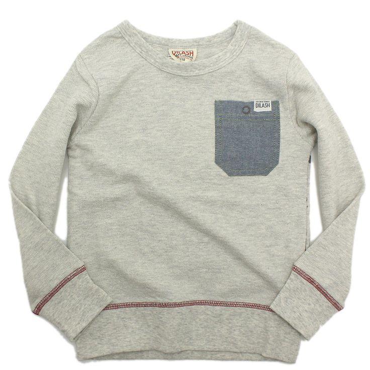 DILASH(ディラッシュ):逆スラブパイル ロングTシャツ オートミール(OM) の通販【ブランド子供服のミリバール】