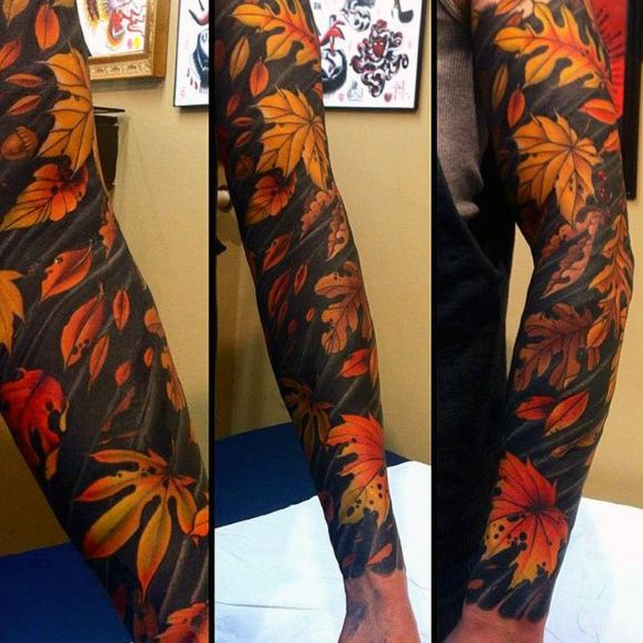 60 Leaf Tattoo Designs For Men The Delicate Stages Of Life Body Suit Tattoo Leaf Tattoos Tattoo Models
