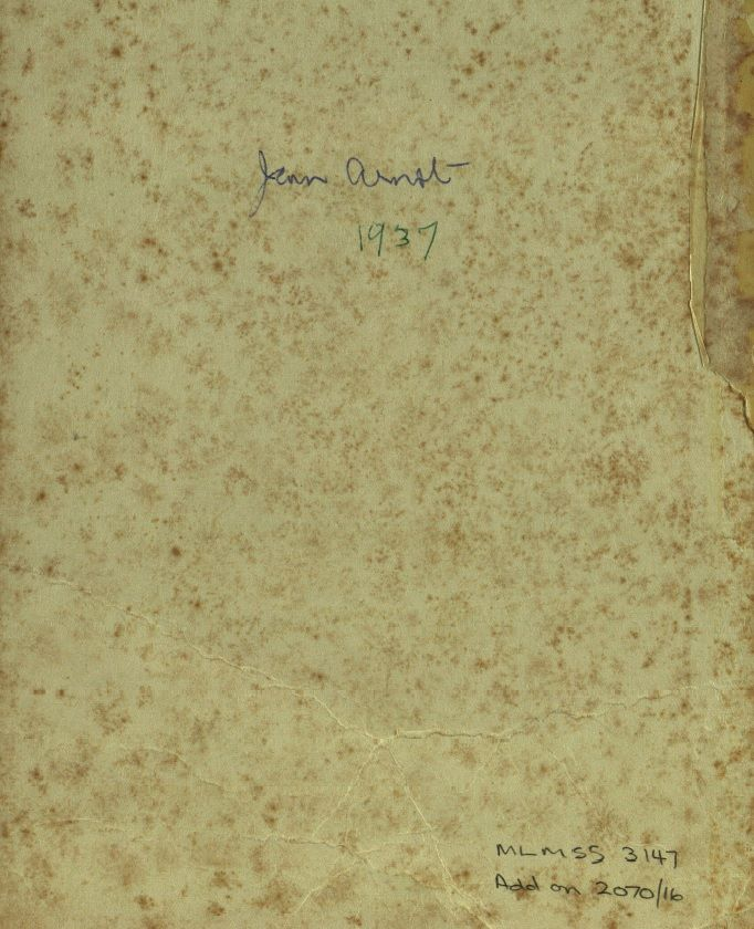 Jean Fleming Arnot papers, 1907-1988, including files relating to librarianship, bibliography, social issues and invitations received - MLMSS 3147