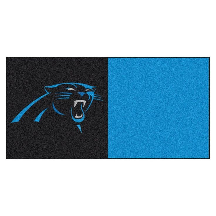 NFL   Carolina Panthers Black And Blue Nylon 18 In. X 18 In. Carpet Tile  (20 Tiles/Case)