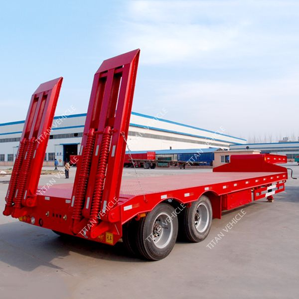 Low bed Semi Trailers | lowbed trailer | 2 axle low bed semi trailer | TITAN