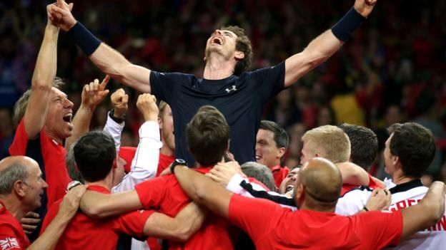 Great Britain win their first Davis Cup since 1936 after Andy Murray beat Belgium's David Goffin for an unassailable lead.