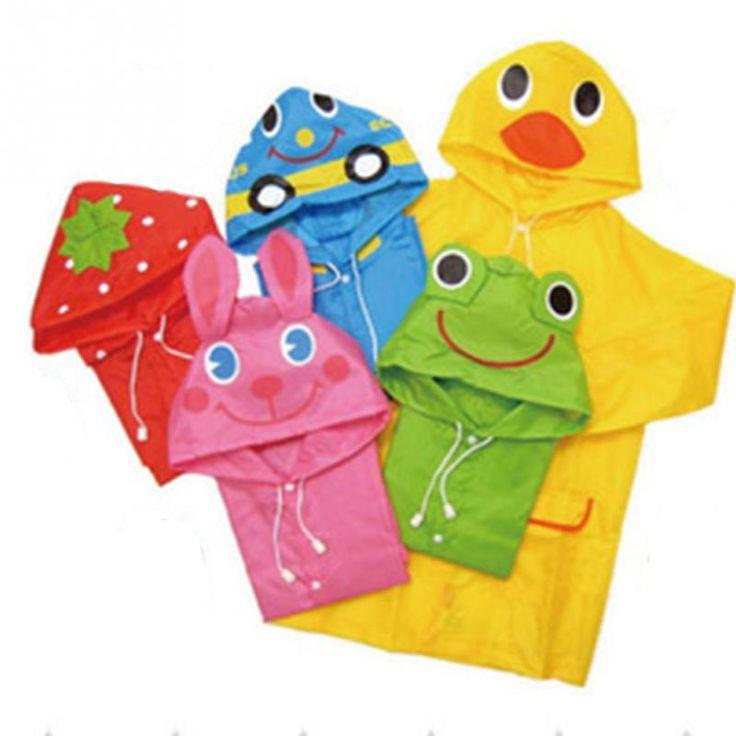 Nuevo y de Alta Calidad Chaqueta de Lluvia Impermeable Niños Impermeable/Rainsuit niños Chubasquero Impermeable Animales 5 Colores