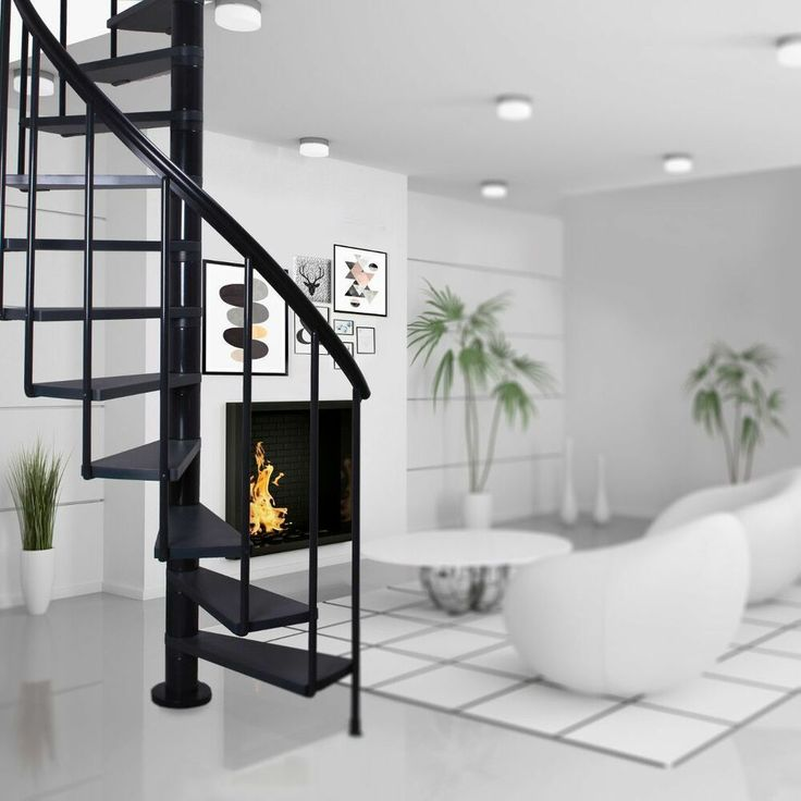 Best Details About Spiral Staircase Calgary Anthracite 400 x 300