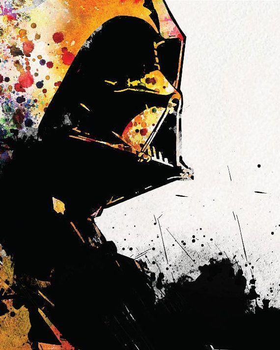 Star Wars Poster Darth Vader _ Watercolor di watercolormagazine