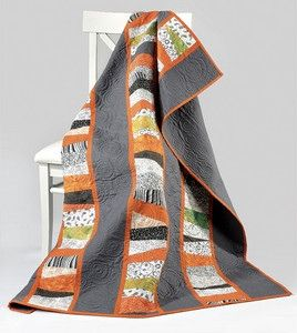 Free project: Grey and Orange quilt · Quilting | CraftGossip.com