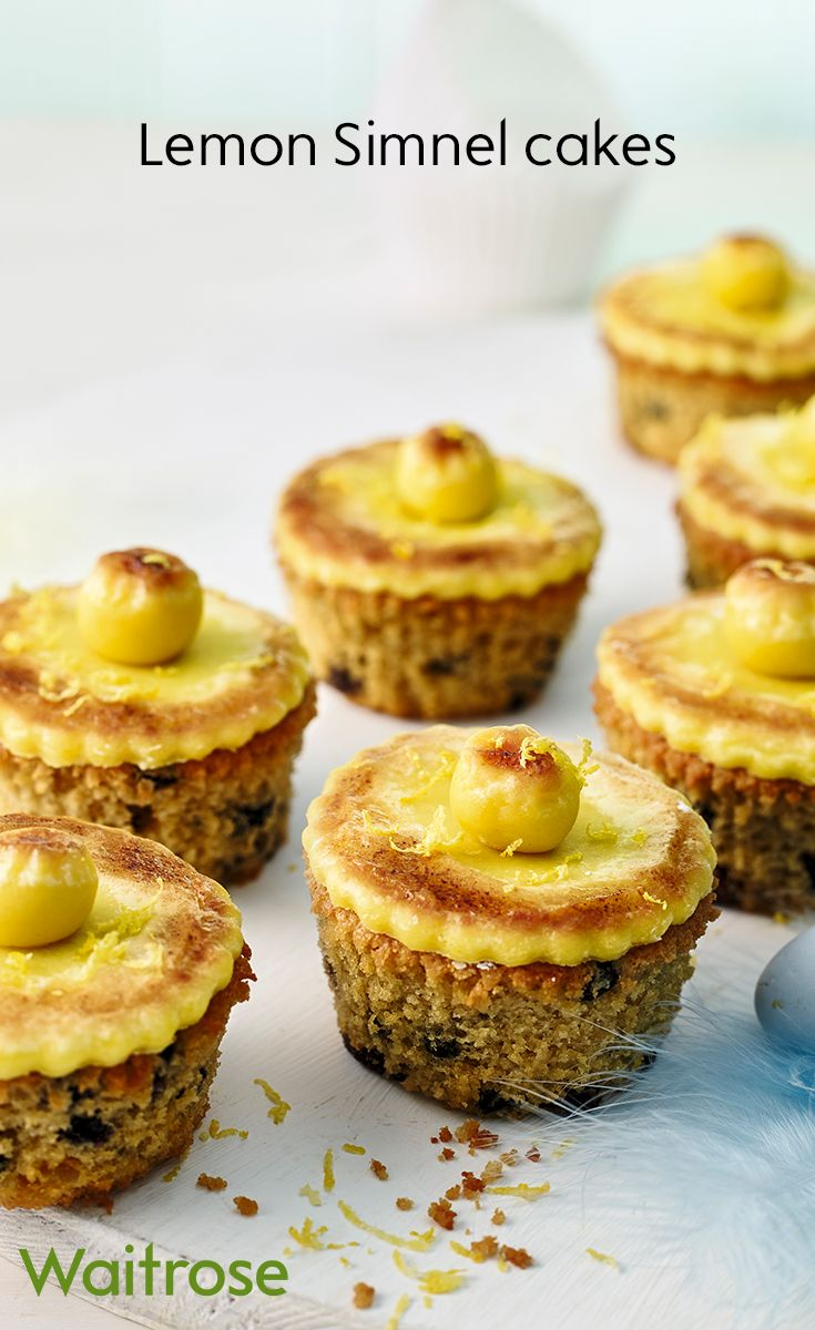 Try baking these lemon Simnel cupcakes for Easter, they're great to gift to friends or family. Get the recipe on the Waitrose website.