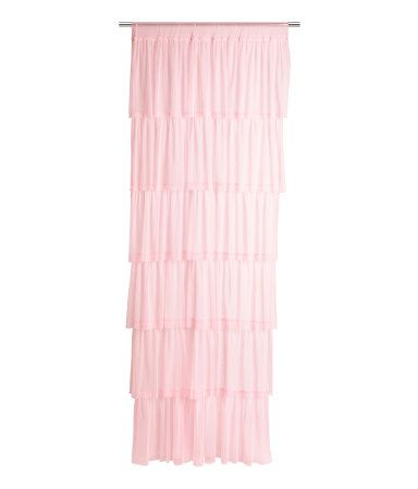 Tiered tulle curtain panel with a wide cased heading. Width 39 1/2 in., height 98 1/2 in. Contains one curtain panel.  sale, $12 ea