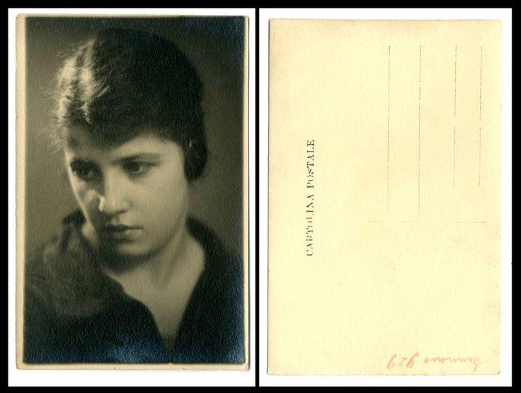 NERINA d FOTO RITRATTO D EPOCA DI SANTINO SALARDI-SAN GIOVANNI IN PERSICETO 1929