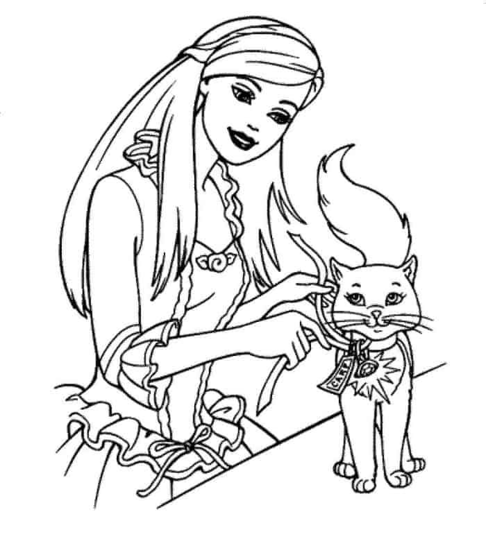 Barbie Pets Coloring Pages Barbie Coloring Pages Barbie Coloring Princess Coloring Pages