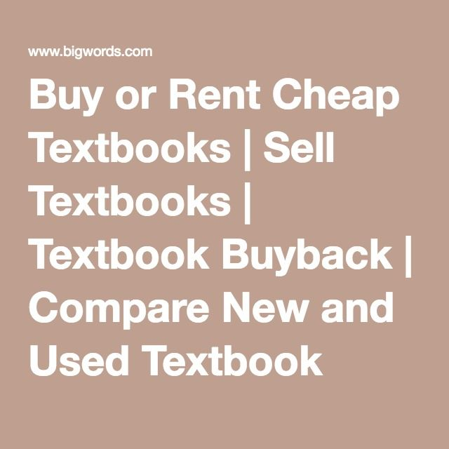 Buy or Rent Cheap Textbooks | Sell Textbooks | Textbook Buyback | Compare New and Used Textbook Prices | BIGWORDS.com
