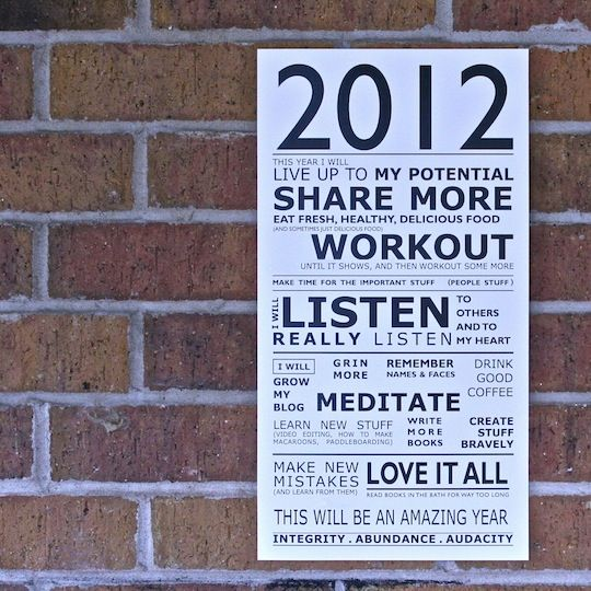 2012 Manifesto**HMMM certainly a few here I can use <3