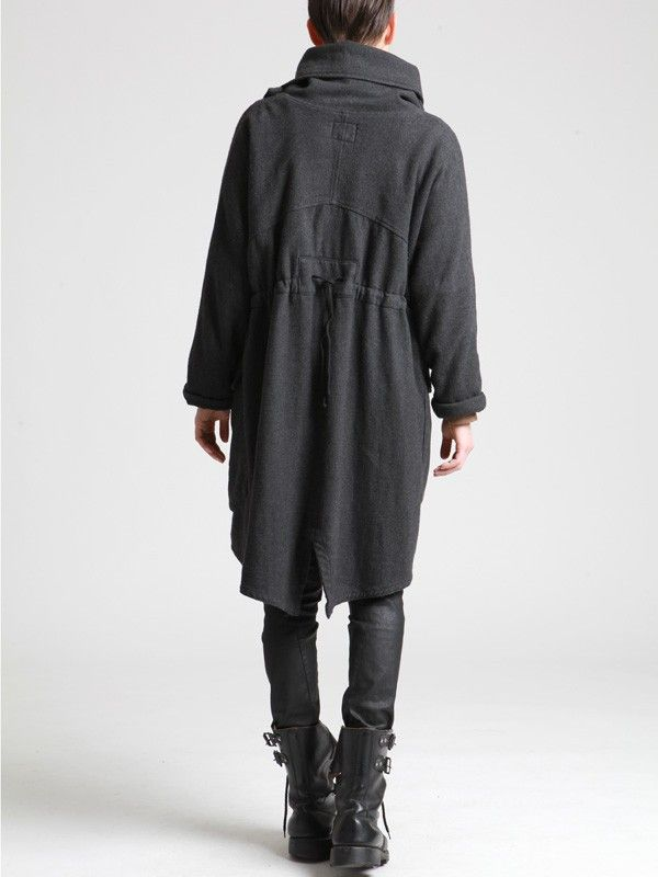 Coat made of Herringbone thick Wooly Cotton by LURDES BERGADA