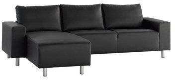 Sofa m/sjeselong GALSTED svart | JYSK
