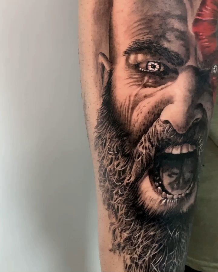 My Kratos Tattoo Done By Hernan Noble At Noble Art Gallery