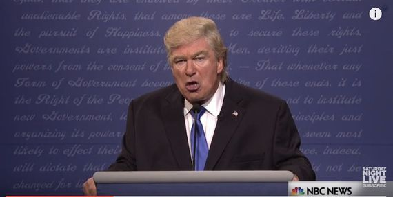 On SNL Donald Trump claims he tweets from golden toilet bowl  CNET