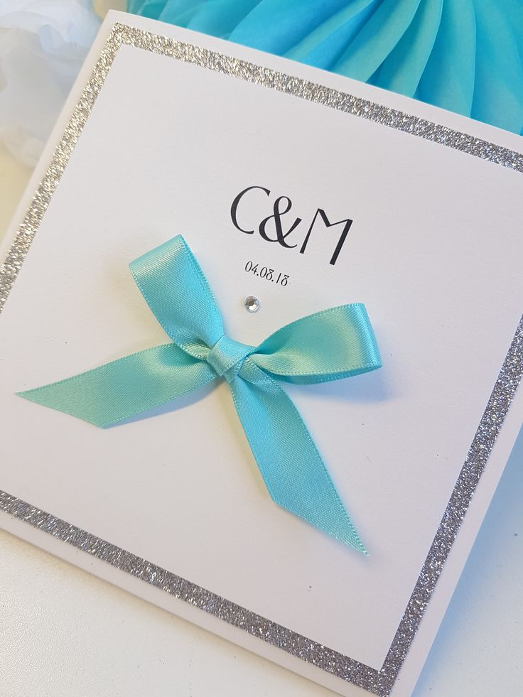 Silver Glitter And Pea Blue Wedding Invitations Stationery Ideas