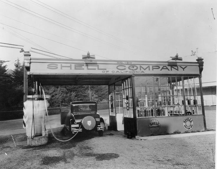Shell Company of California gas station.