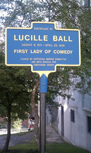Lucille Ball - First Lady of Comedy - Sign in Jamestown.