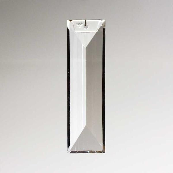 Lead Crystal 1 Hole Coffin Prism, Glass Chandelier Replacement Crystals