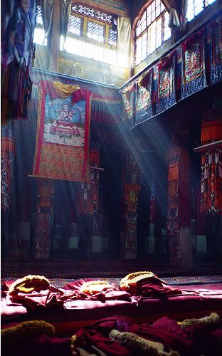 Sun's Rays - Portola Palace - Tibet deep toned interiors