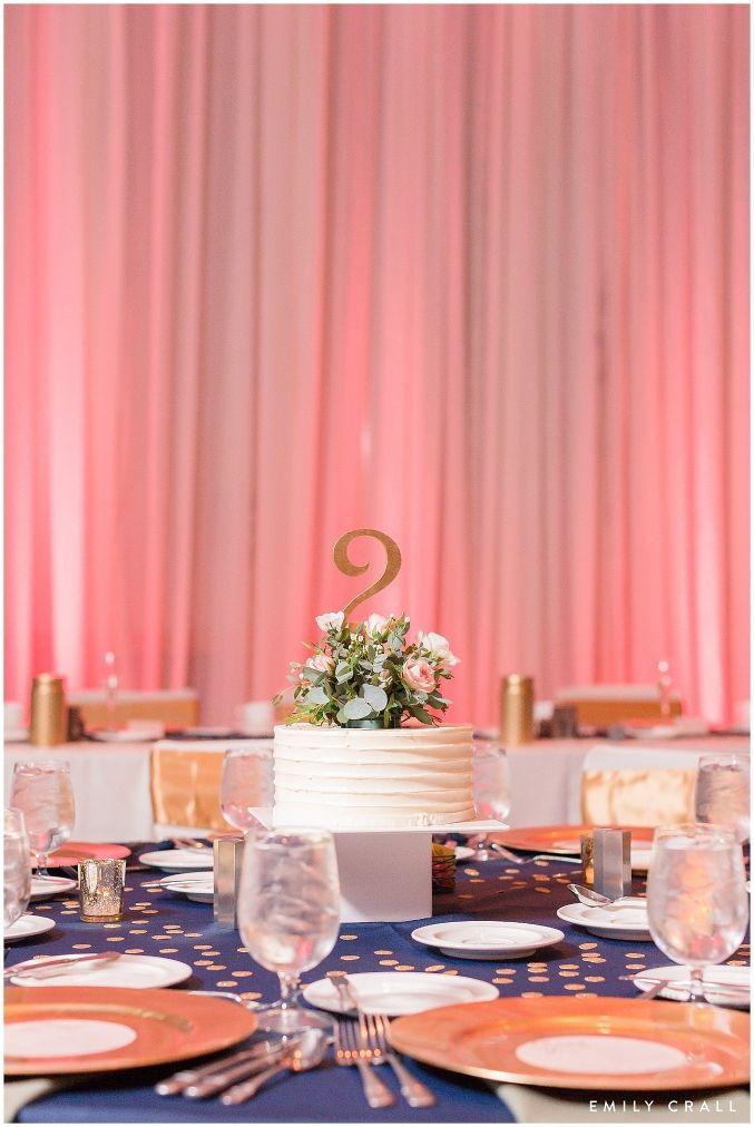 Hotel Kirkwood spring wedding; blush pink, mint & navy wedding ideas; reception decor; table centerpieces; wedding cake