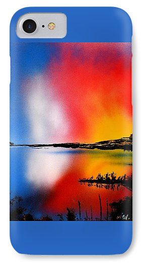 Dawn Twilight IPhone 7 Case Printed with Fine Art spray painting image Dawn Twilight by Nandor Molnar (When you visit the Shop, change the orientation, background color and image size as you wish)