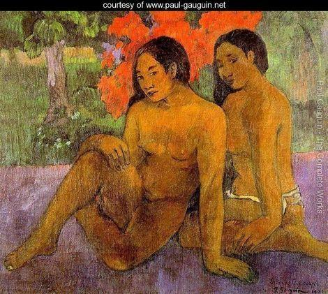 P. Gauguin, L'oro dei loro corpi, 1901. Opera tarda di Gauguin, unisce il maturo stile postimpressionista a un velato simbolismo, che pare trapelare dalle espressioni delle due ragazze.