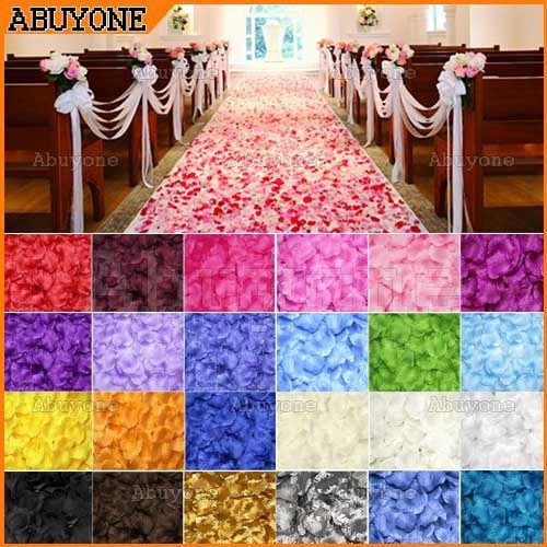 100 Silk Rose Petals: All the peacock colors in one place! For about 1.50 per 100.