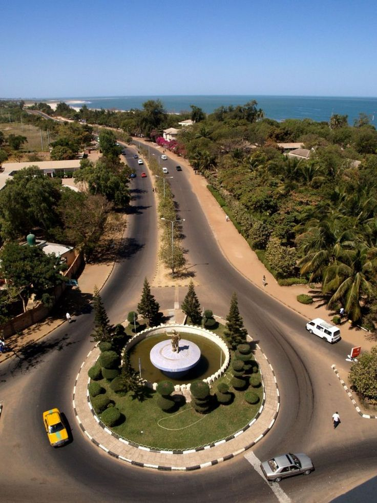 The City of Banjul, the capital of The Gambia