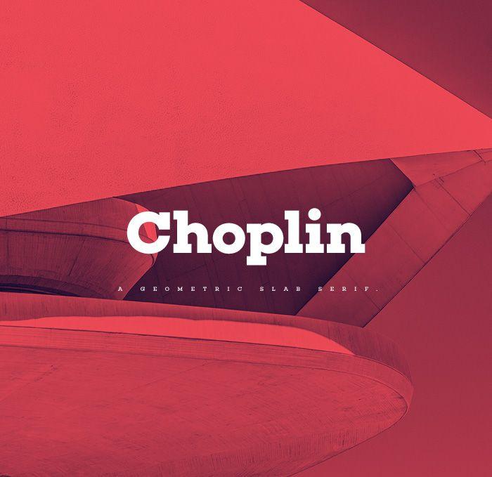 Choplin is a modern and clear geometric slab serif with a sturdy heart.It was…