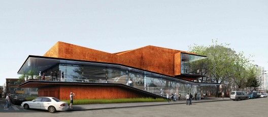 Daegu Gosan Biblioteca Pública Concorrência Entrada / Martin Fenlon Arquitetura