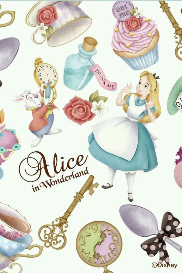 25 best ideas about alice in wonderland background on - Alice in wonderland iphone wallpaper ...